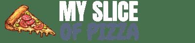 My Slice Of Pizza Logo white